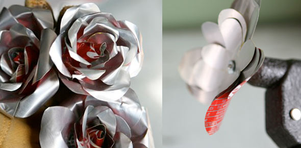 flower,rose,love,recycled,can,aluminum