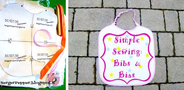sewing, simple, bibs, bias