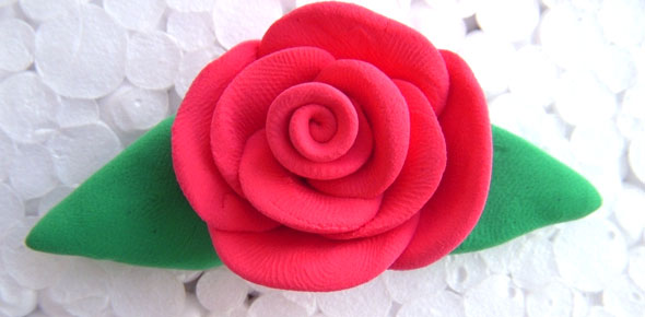 clay,rose,polymer,flower,floral