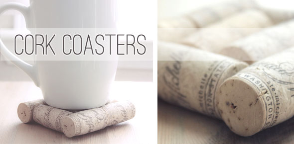 coasters, recycle, upcycle, cork, cork coasters