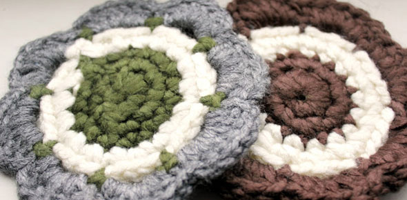 crochet, coasters, gift, holiday, cheap, christmas, yarn