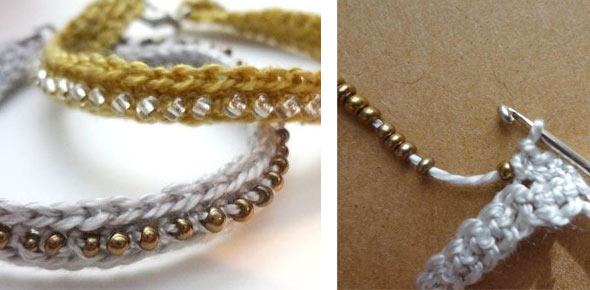 jewelry,crochet,bracelet,beads