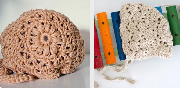 crochet, baby, bonnet, vintage, newborn