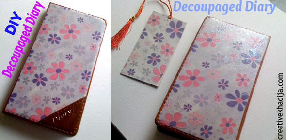 modpodge, design, journal, diary cover, decoupage, scrapbook, tutorial,