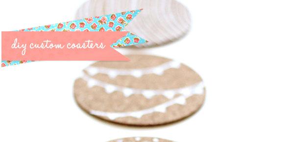 coasters,cork,paint,decoration
