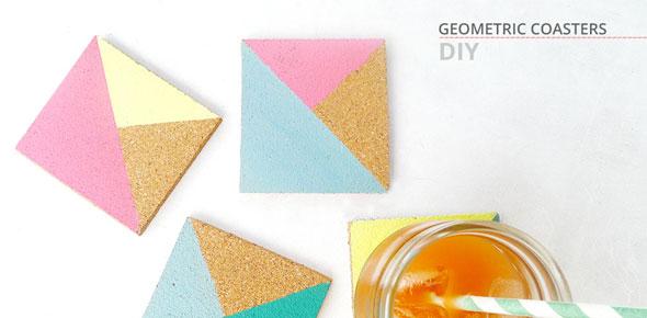 coasters, geometric, paint, color