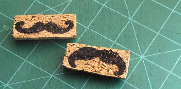 stamps, mustache, diy, upcycle, wine corks, handcarved, stamping, scrapbooking, art, craft, cork, cardmaking