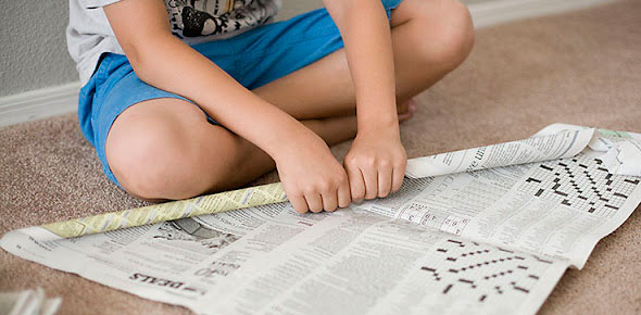 paper,children,play, recycled,newspaper