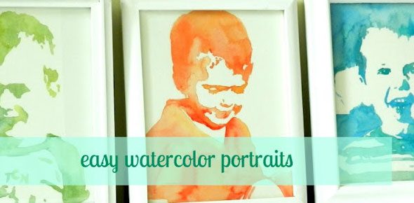 watercolors, art, diy, home decor, custom art, portraits