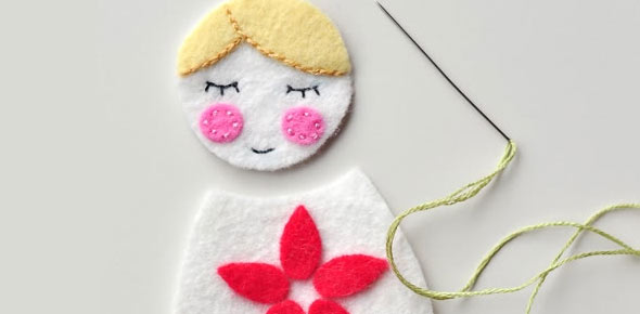 doll,felt,christmas,decoration