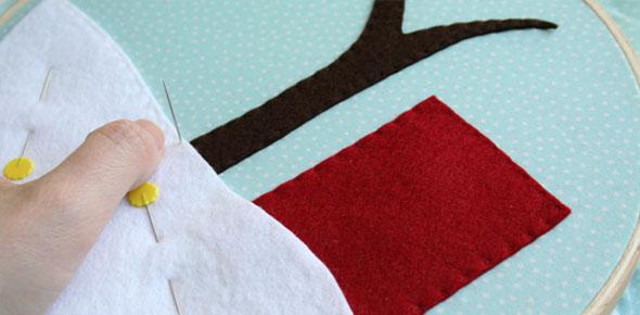 snow,felt,applique,embroidery,holiday,christmas,felt