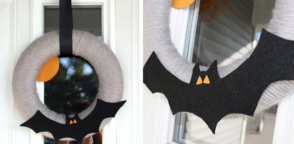 bat,halloween,wreat,decoration