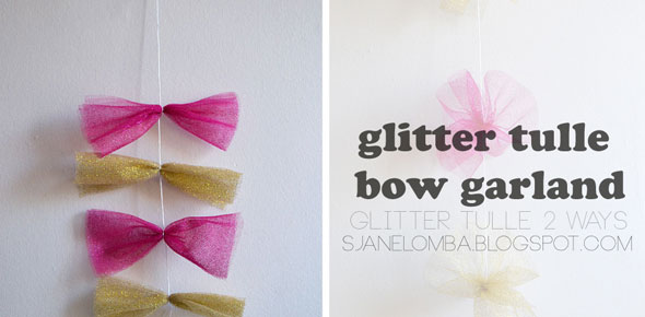 diy, tulle, easy, glitter,garland,decoration