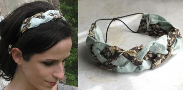 No Sew Braided Fabric Headband From Old Clothes
