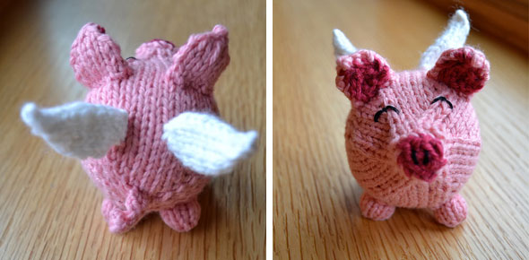 knitting,animal,pig,angel,pink