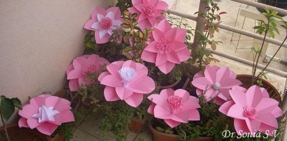 paper, flowers, decoration