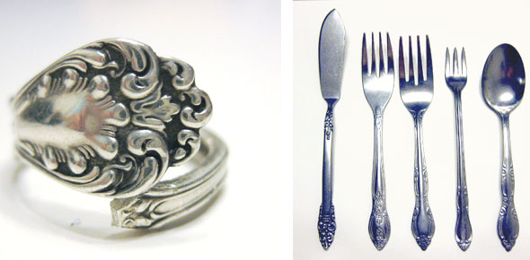 jewelry,ring,recycling,spoon,cutlery