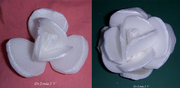 recycling, thermocol, flowers