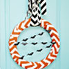 Halloween Chevron Wreath Tutorial