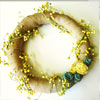 How to Make a Burlap Wreath with Rolled Fabric Flowers