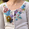 Clothing Refashion — Embellished Flowered Cardigan