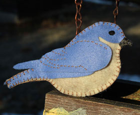 bird,animal,felt,ornament