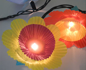 lights,flowers,cupcake,decoration