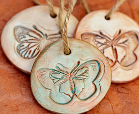 tag,gift,cly, butterfly, decoration