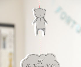 baby room,mobile,baby,decoration,bear,cly,polymer