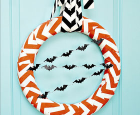 halloween,wreath,decoration,bat