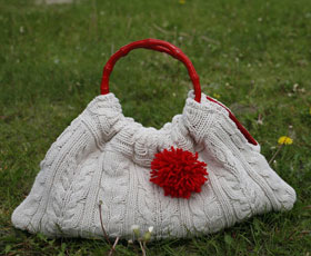 handbag, refashion, sweater,fashion,knitting,sewing