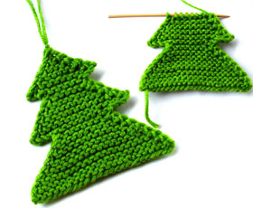 Knitted Christmas Tree Patterns : Knitting Craft Tutorial
