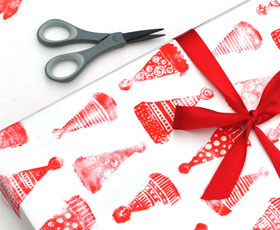printmaking, wrapping, paper,christmas,gift