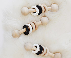 wooden, toy, baby, natural, wood, simple, minimal, rattle