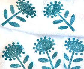 printing, stamping, tea towels
