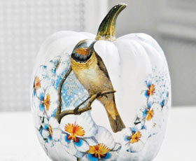 pumpkin,decoupage,decoration