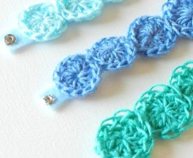 crochet, accessory, bracelet, jewelry, felt, glue