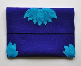felt, clutch, bag, accessory, fashion, sew