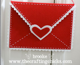 valentines,felt,envelope,red