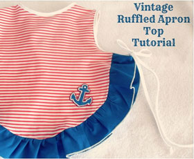 baby, sewing, vintage, apron top,