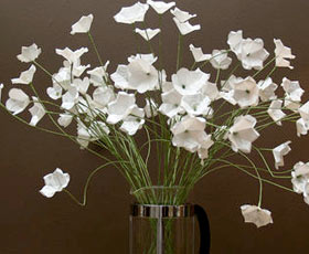 Simple White Paper Flowers