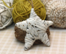 ornament,decoration,wool,christmas,star